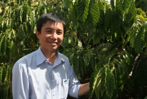 Coffee Buyer Duong Quoc Hung of Intimex in Vietnam