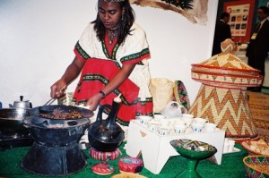 Ethiopian Coffee Ceremony in Action
