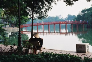 No Coffee But The Beautiful Hoan Kiem Lake in Hanoi is a Symbol of Vietnam
