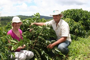 With Coffee Grower Paulo Oliari In Espirito Santo in Brazil