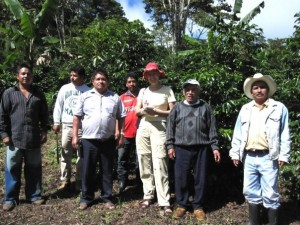 With Mexican Coffee Producers of La Selva in La Candona in Chiapas