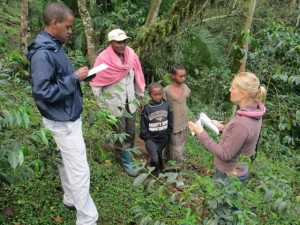 With Small Coffee Growers in Kaffa in Ethiopia