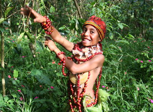 Tribal Coffee Welcome in Papua New Guinea