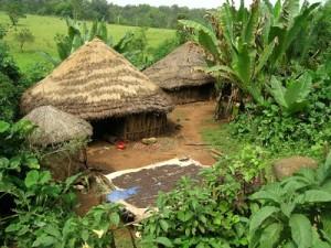 Strohhütte in Äthiopien